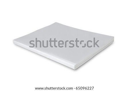 Blank white cover magazine isolated on white background