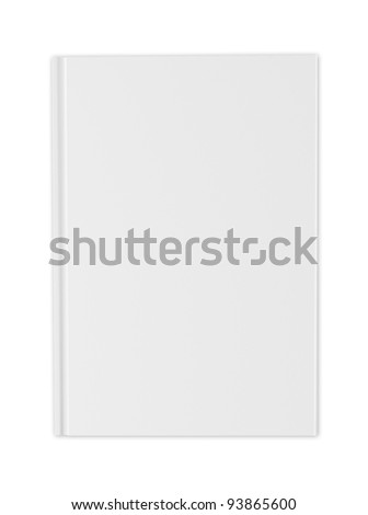 blank white cover of  book isolated on white