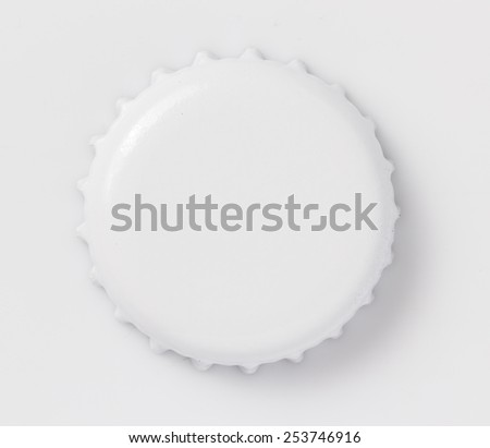 Blank White Crown seal cap top view