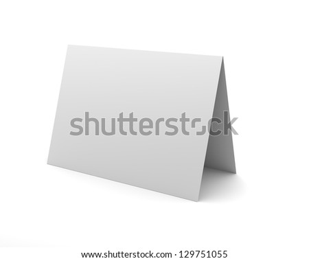Blank White Desk Display Isolated on the White Background