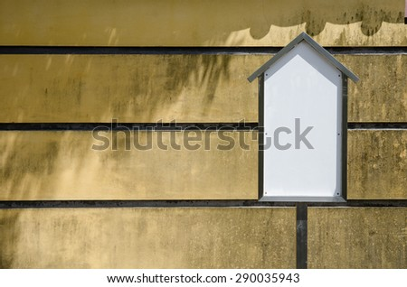 Blank white display advertising stand over grudge wall background