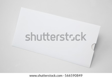 Blank White Envelope E65 Template, Isolated