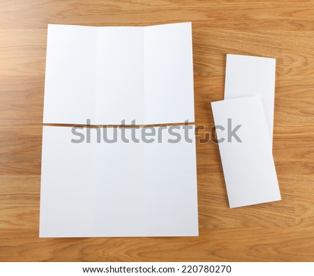 blank white folding paper flyer, identity design, corporate templates, company style