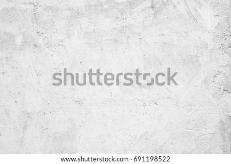 Blank white grunge cement wall texture background, banner, interior design background #691198522