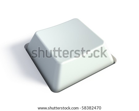 Blank white key