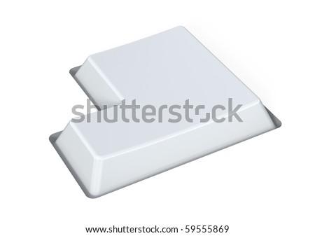 Blank white key - enter