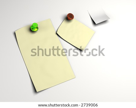 Blank white note pinned in high resolution and isolated background. Text can easily be added.