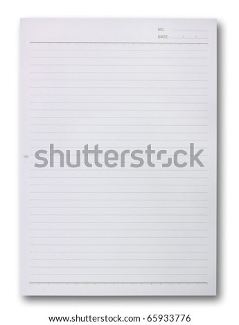 blank white paper - stock photo