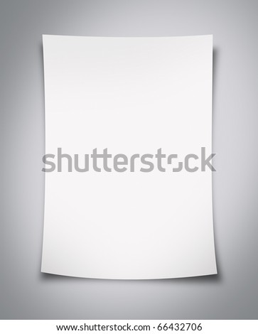 Blank White Paper Background