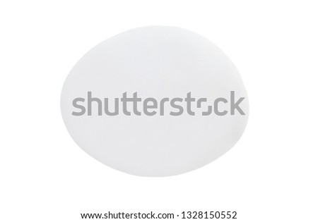 Blank white paper sticker label isolated on white background with clipping path #1328150552