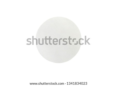 Blank white paper sticker label isolated on white background with clipping path #1341834023
