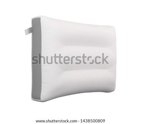 Blank white Pillow health, Natural latex pillow, White pillow on white