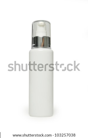 Blank white plastic bottle with clipping path