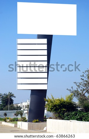 Blank white sign with a copy space area