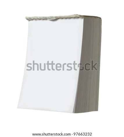 """blank white """"tear off"""" calendar with room for your text isolated on white"""
