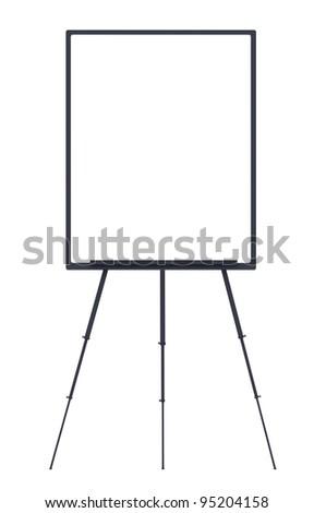Blank whiteboard and flip chart