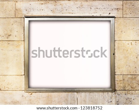 blank window display at a store - nice background with space for text