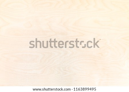 blank wooden background from natural birch plywood Photo stock ©