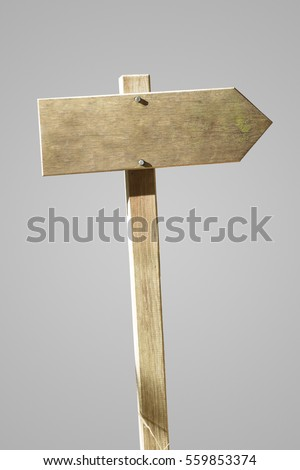 Blank wooden sign with grey background. #559853374