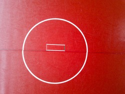 Blank wrestling mat from above