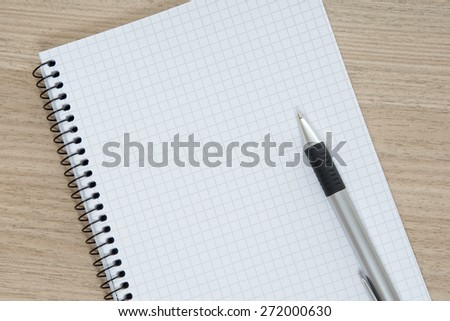 Blank writing pad with a pen / writing pad