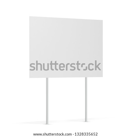 Blank yard sign. 3d illustration isolated on white background  ストックフォト ©