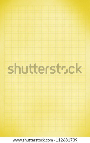 Blank yellow / gold squared paper sheet background or textured