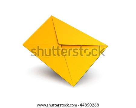 Blank Yellow Mail Envelope