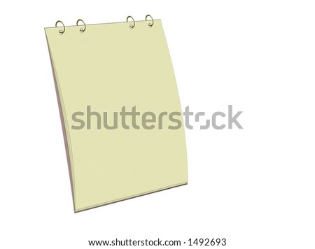 Blank yellow notepad for easy use