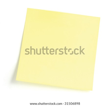 Blank Yellow To-Do List Sticky Note, Isolated Sticker