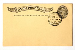 Blanked Canadian Postal Card Dated 1894.