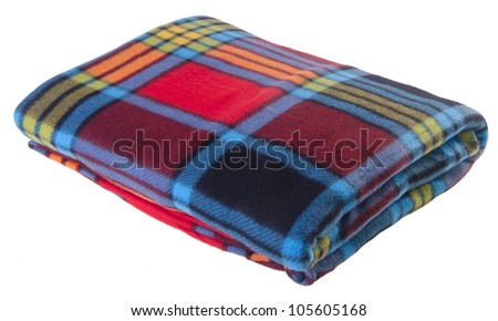 blanket, Soft warm blanket on the background