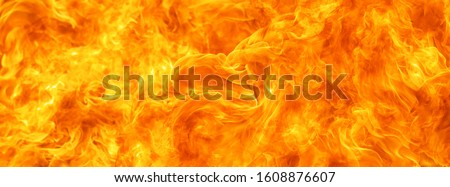 blaze fire flame conflagration texture for banner background Foto d'archivio ©