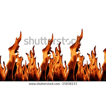 Blazing Fire Clipart Blazing Fire Flame Isolated in