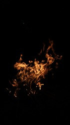 blazing fire texture black background