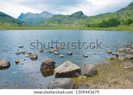 Blea Tarn, Langdales Pikes and Side Pike; Lake District, England