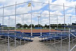 Bleachers and a softball/baseball field