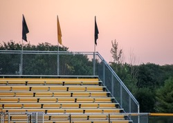 Bleachers at sports game - football, baseball, soccer