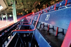 Bleachers in a baseball park