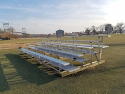 Bleachers on the sports field