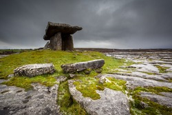 Bleak Sky Over An Ancient Celtic Burial Tomb