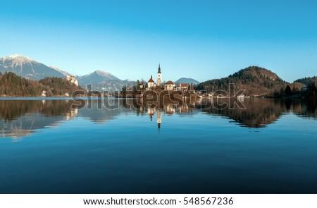 Stock Photo Bled lake isle (Slovenia)