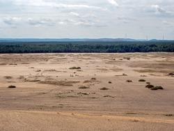 Bledow desert the biggest sand desert in Silesia region in Poland