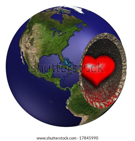 Bleeding Heart of Mother Earth - stock photo