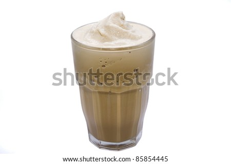 blended coffee on white backgrounds