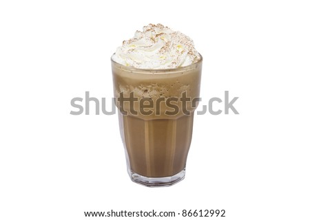 blended coffee on white backgrounds #86612992