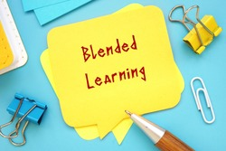 Blended Learning inscription on the page.