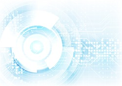 blending blue in white hitech digital abstract background, futuristic technology revolution design concept, website vector background illustration
