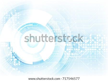 blending blue in white hitech digital abstract background, futuristic technology revolution design concept, website vector background illustration - Shutterstock ID 717546577