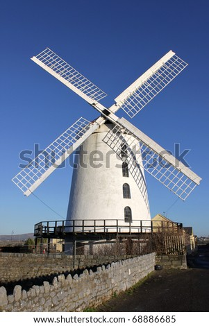 Blenerville Windmill,Tralee  in Ireland.